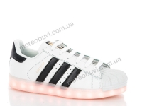 B adidas super star led white