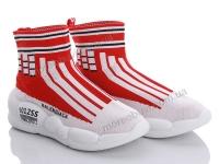 Ботинки вязаный красный