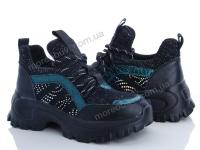 Кроссовок-ботинок кожа-ткань-люрекс  черный