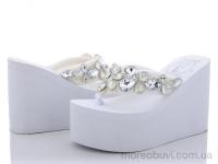 Шлепки 11см.камни белые
