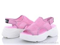 Босоножек сетка розовый