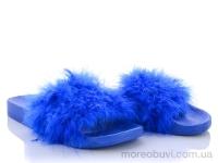 HM002 шлеп. Марабу синие